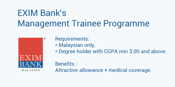 EXIM Bank's Management Trainee Programme