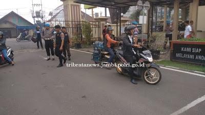 Pasca Ledakan BOM Bunuh Diri di Polrestabes Medan, Polda Jambi Perketat Pengamanan Mako