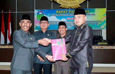 Paripurna Ranperda APBD 2020, DPRD Tebo Terima Pujian dari Pemkab