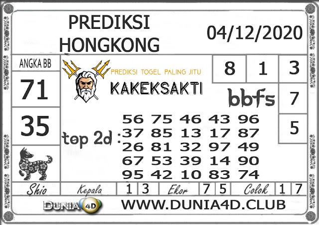 Prediksi Togel HONGKONG DUNIA4D 04 DESEMBER 2020