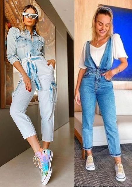 Guia de moda Looks estilosos com tênis, Thássia Naves, Layla Monteiro