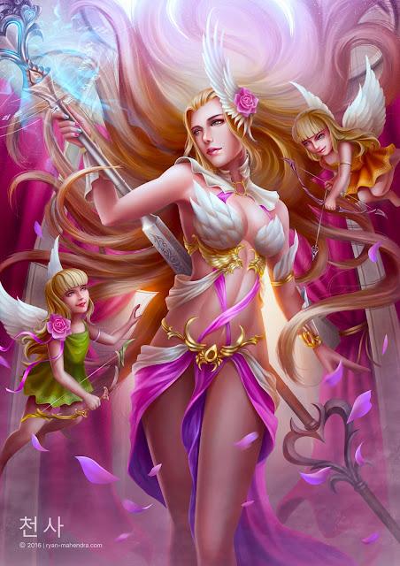 cheonsa, angel, ryan mahendra, ryan mahendra artworks