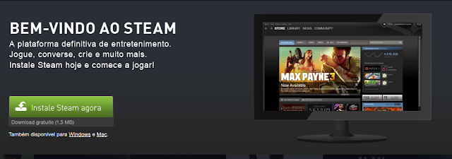 Download do Steam Linux