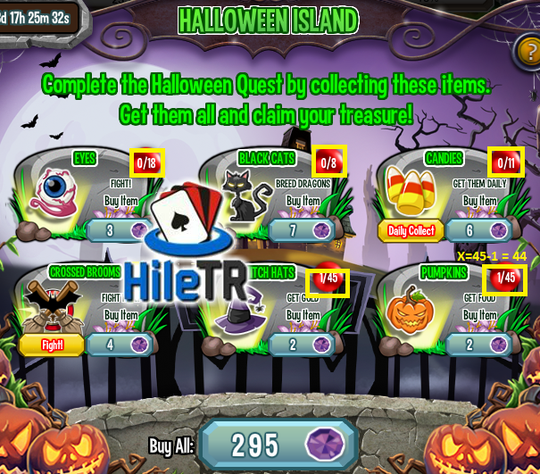 Dragon City Halloween Island Gorev Hile