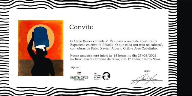 Exposição coletiva a.RRudia será realizada em Santa Cruz do Capibaribe