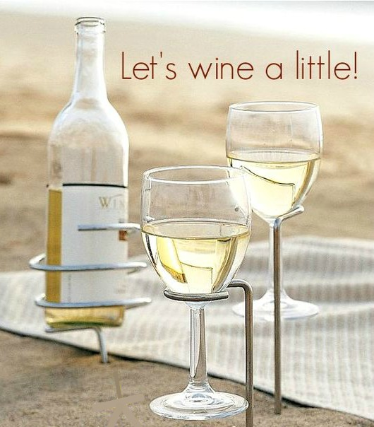 Wine Glass Holder Sticks for the Beach