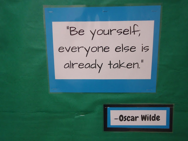 Inspirational quotes, New Year's bulletin board