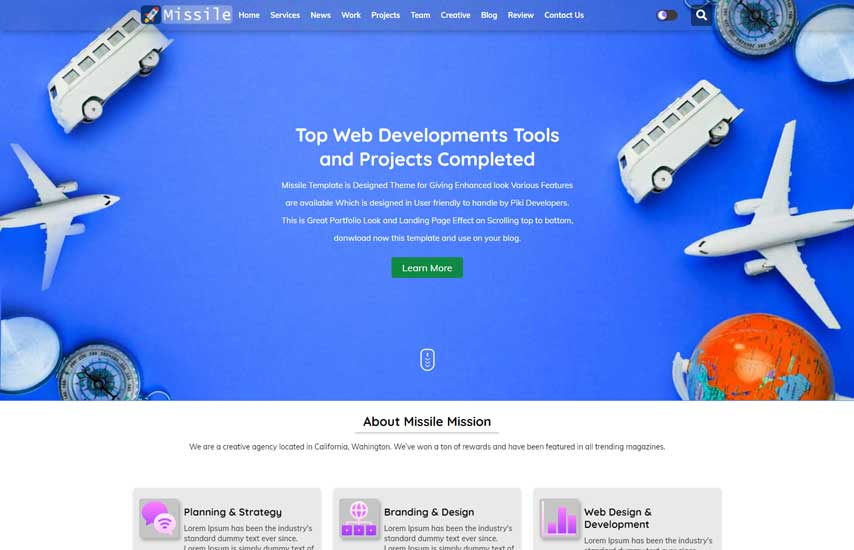 Blogger Template Missile