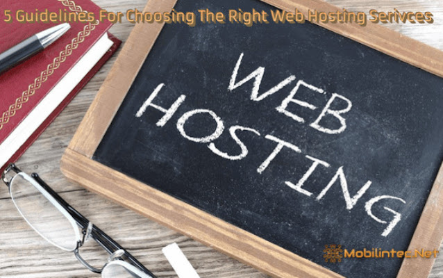 5 Guidelines For Choosing The Right Web Hosting Serivces
