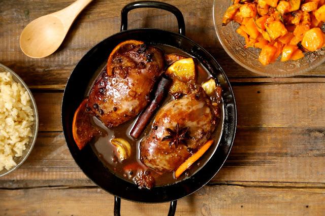 magret canard, Donna Hay , poivre Sichuan , orange , soja , épices
