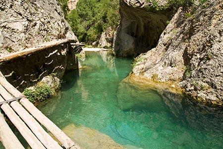Río Matarraña en el Parrizal prohibido bañarse