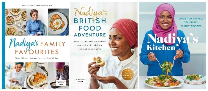 Three cookbooks by Nadiya Hussain