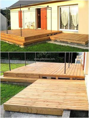 Ideas DIY para la terraza del jardín o deck de madera