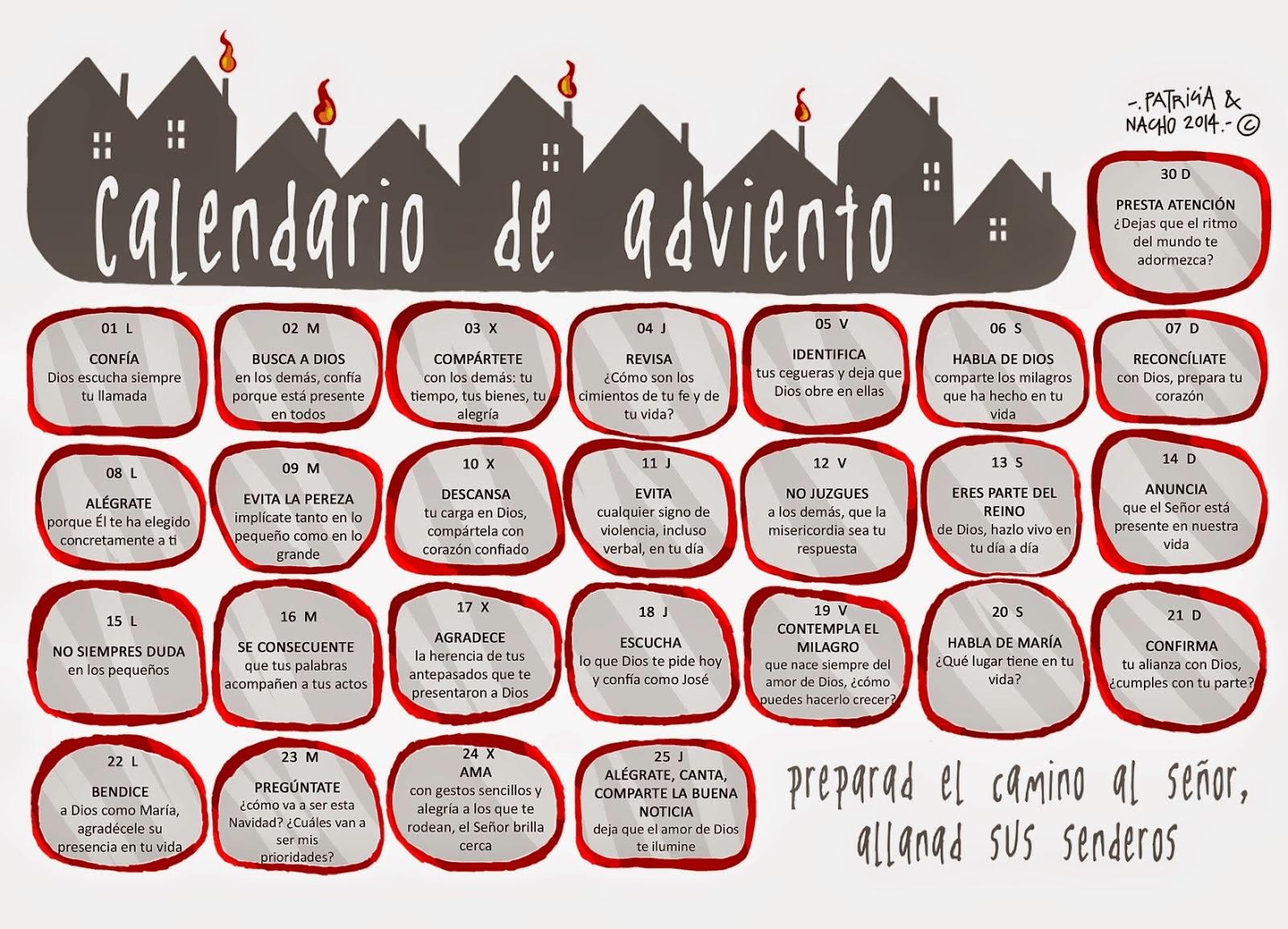 Vocación Benedictina Calendario De Adviento