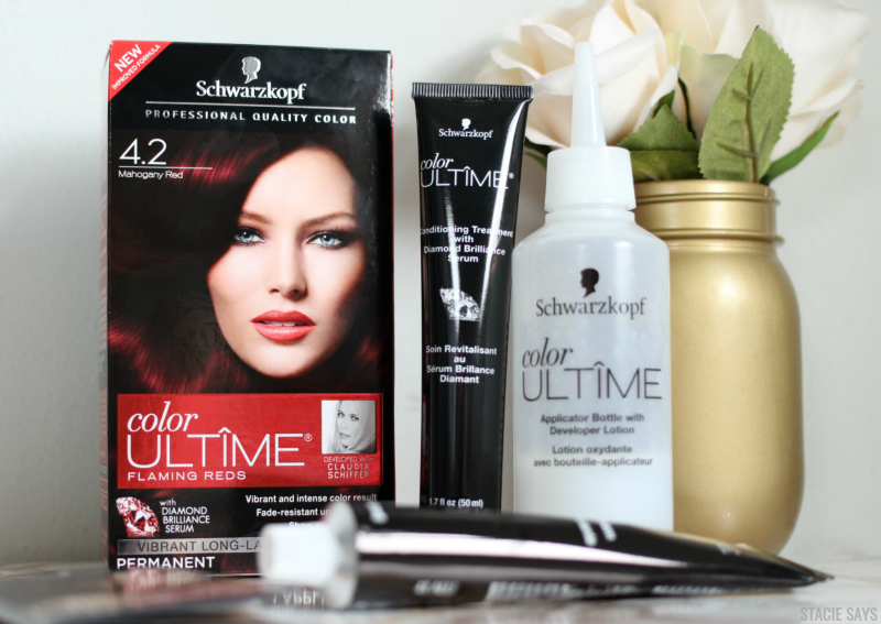 an at home hair coloring kit on a table