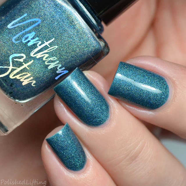 teal holo nail polish