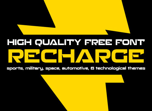 Recharge free font
