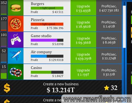 Jogos de click: Simulador de Homem de Negócios.