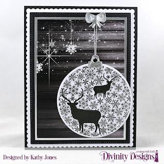 Stamp/Die Duos: Deer Ornament, Paper Collection: Rustic Christmas, Custom Dies: Rectangles, Pierced Rectangles, Scalloped Rectangles