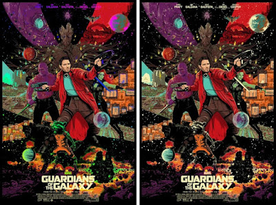 Guardians of the Galaxy Movie Poster Screen Print by Raid71 x Grey Matter Art x Marvel