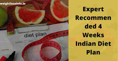 Expert Recommended 4 Weeks Indian Diet Plan