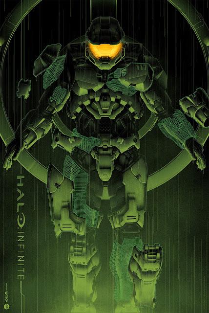 "San Diego Comic-Con 2020 Exclusive Halo Infinite ""Step Inside"" Screen Print by Matt Ryan Tobin x Microsoft Xbox x Mondo"