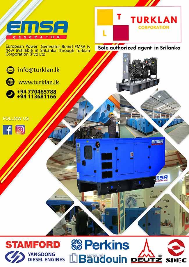 EMSA Generators now available in Sri Lanka.
