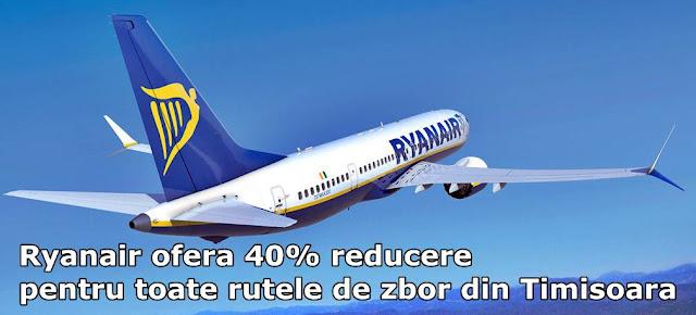 Bilete de avion Ryanair ieftine de la 5 euro