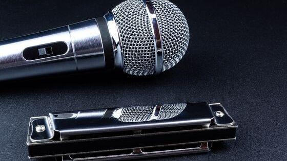Gaita e microfone
