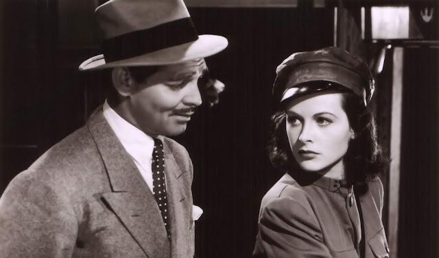 Clark Gable e Hedy Lamarr in «Corrispondente X» di King Vidor 97479c425911