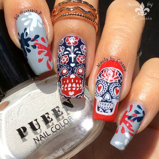 Skull & Splatter Mani - Nails by Cassis