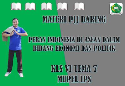 Materi IPS Kelas VI Tema 7 Subtema 1 - Peran Indonesia di Asean dalam Bidang Ekonomi dan Politik