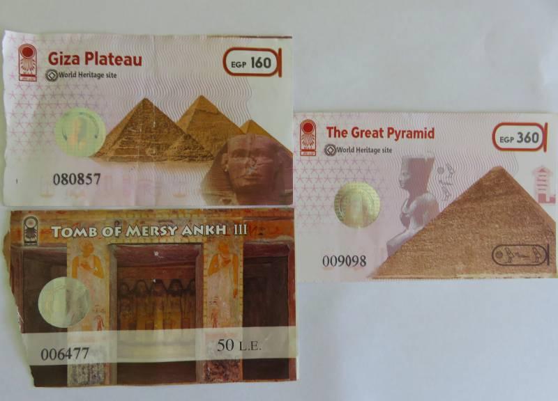 Pyramids of Giza tickets
