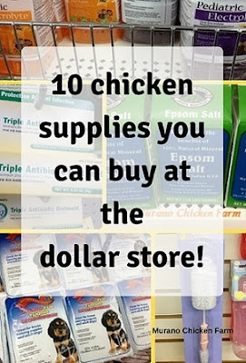 Products I bought at the dollar tree for my chickens
