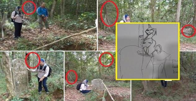 """""""See The Unseen"""", Gambar Wartawan Melawat Kubur Lama Tarik perhatian Netizen, Ada Dakwa Nampak Banyak Makhluk Ghaib Dalam Gambar"""