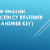 Test of English Proficiency Reviewer (with Answer Key)