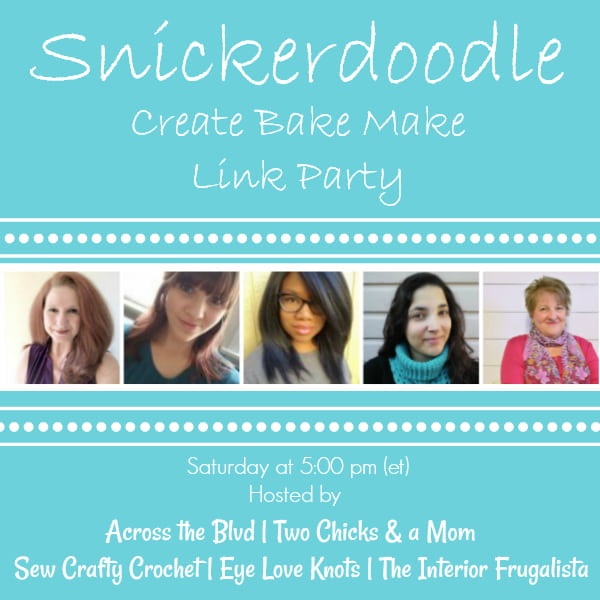 Snickerdoodle Create Bake Make Link Party 347