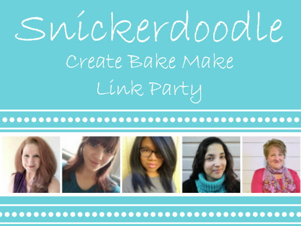 Snickerdoodle Create Bake Make Link Party 351
