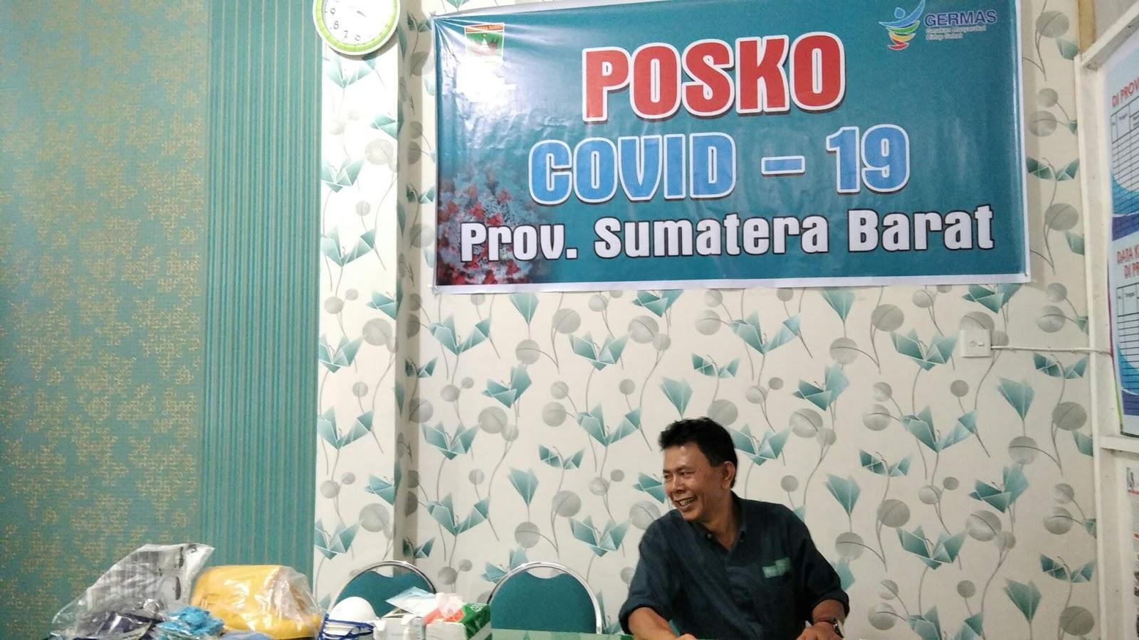 Posko Covid-19 yang ada di Kantor Dinas Kesehatan Provinsi Sumatera Barat