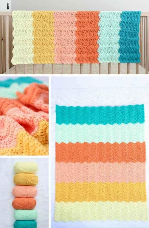 Modern Gender Neutral Crochet Baby Blanket - Free Pattern