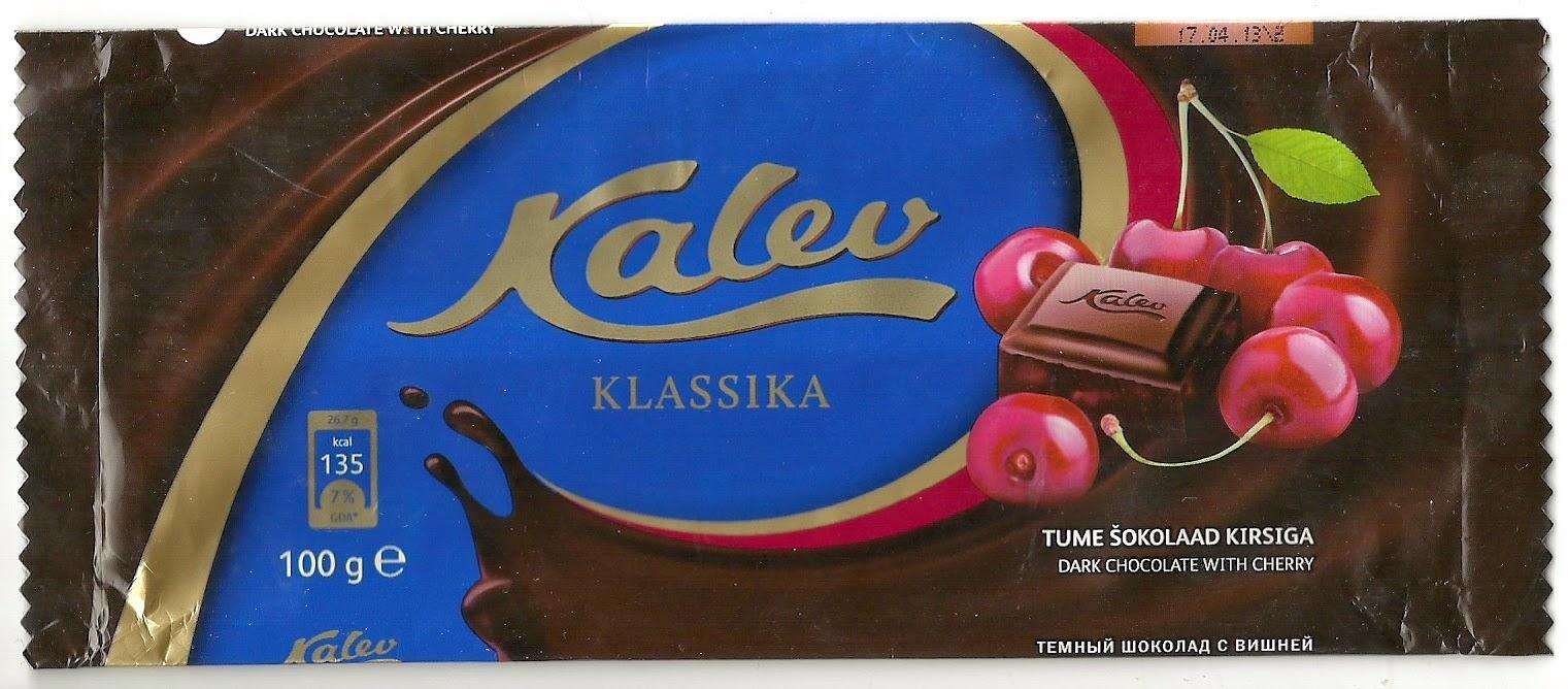 a870f77945a Janne šokolaadipaberid: 2013 Kalev Klassika - Tume šokolaad kirsiga 100g