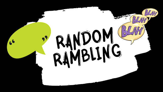 {Random Rambling} - Anxiety, Fear of Dating, and Books