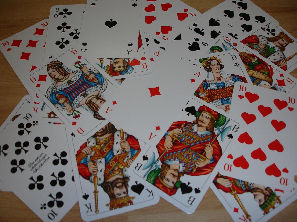 Bestimmte Spielkarte