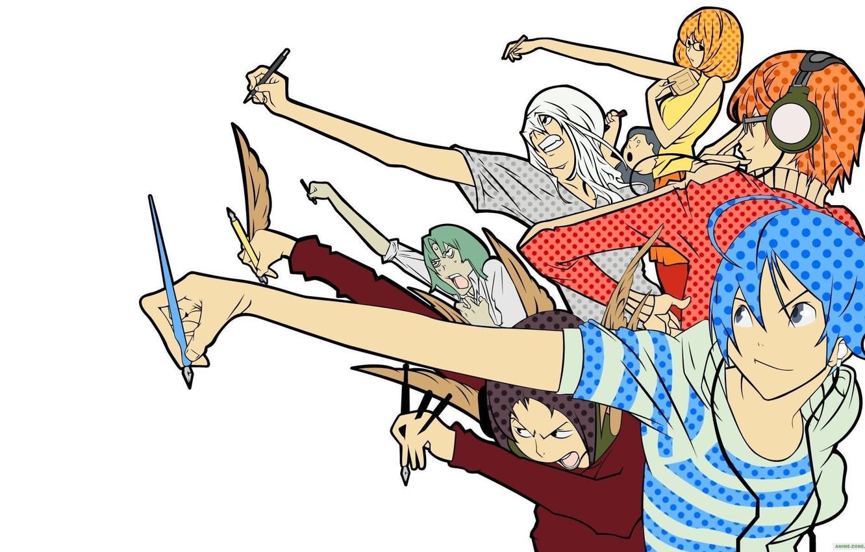 Wallpapers Bakuman, Akito Takagi, Niidzuma Agee, Takuro Nakai, Yuriko
