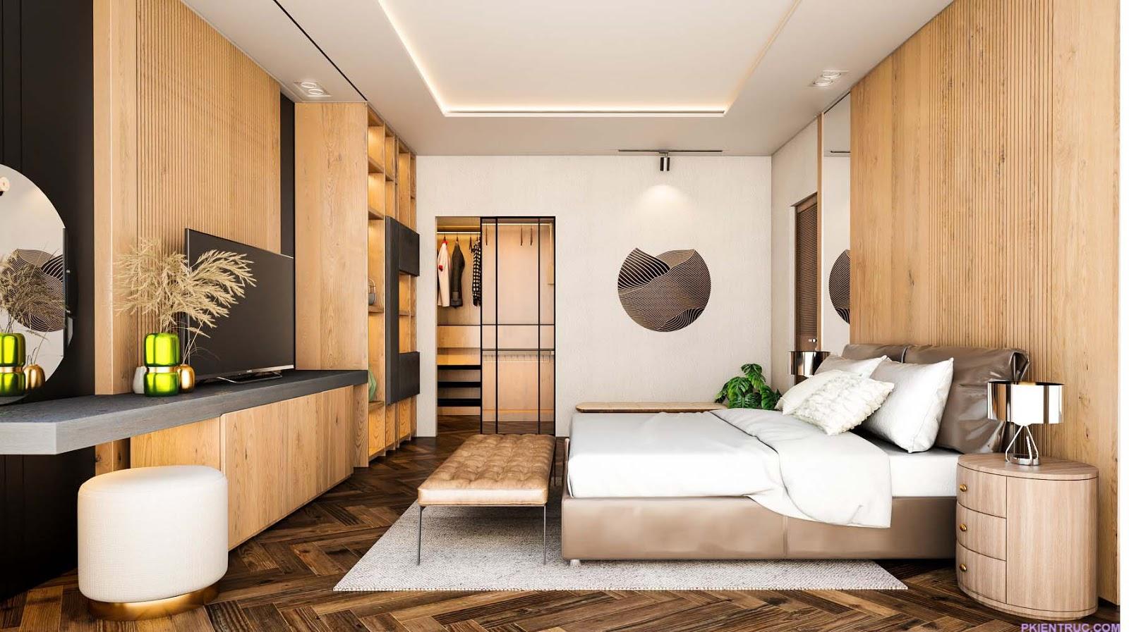 Phối cảnh phòng ngủ cực kỳ sang chảnh -view 2