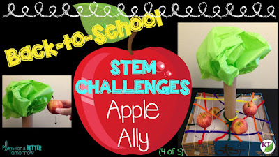 Looking for back to school STEM challenges that don't require too many extra supplies? Then check out this post! You'll get five great ideas that you can do right away! Perfect for your 2nd, 3rd, 4th, 5th, 6th, 7th, or 8th grade students - as well as homeschool families! Click through now!!