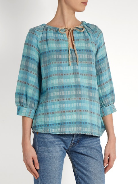 Ace & Jig Rosa Top in Sky