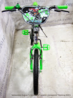 Sepeda BMX Family Champion Suspension 20 Inci Silver Green