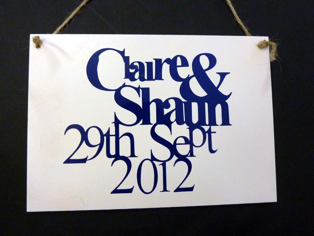 Personalised Wedding Plaques Made To Order