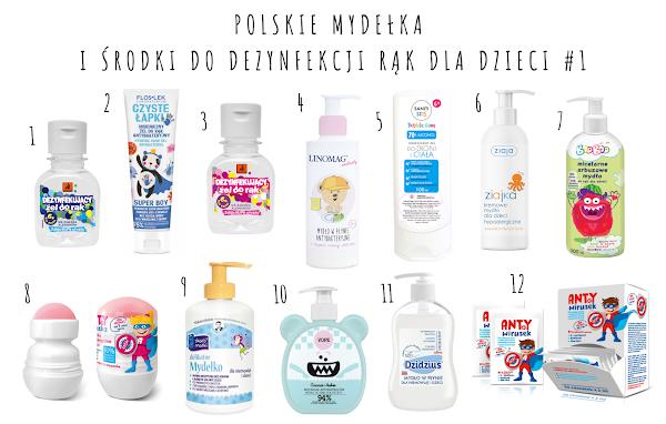 Polskie mydła i żele antybakteryjne dla dzieci